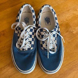 Vans Era blue checkerboard shoes